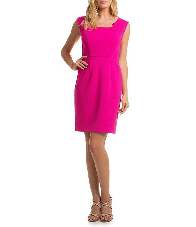 トリーナターク レディース ワンピース トップス trina Trina Turk Square Neck Sheath Stretch Dress Trina Pink