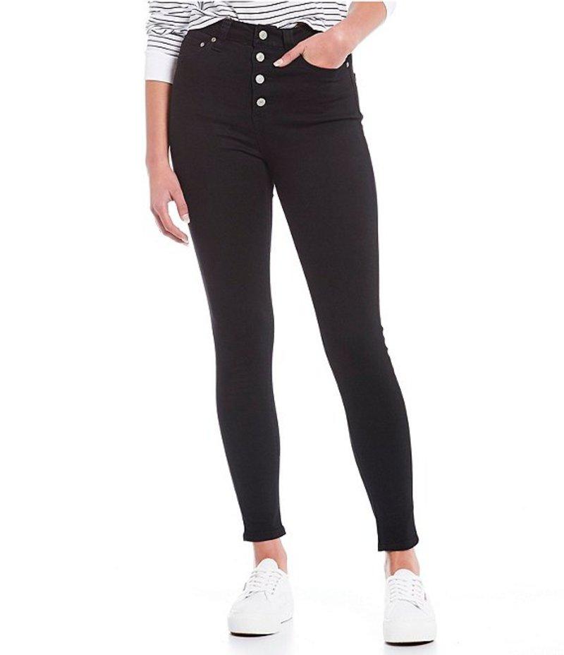 ディッキーズ レディース デニムパンツ ボトムス High Rise Exposed Button Skinny Jeans Black