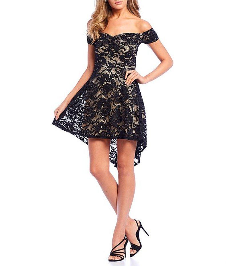 ビーダーリン レディース ハーフパンツ・ショーツ ボトムス Off-The-Shoulder Lace High-Low Dress Black/Nude