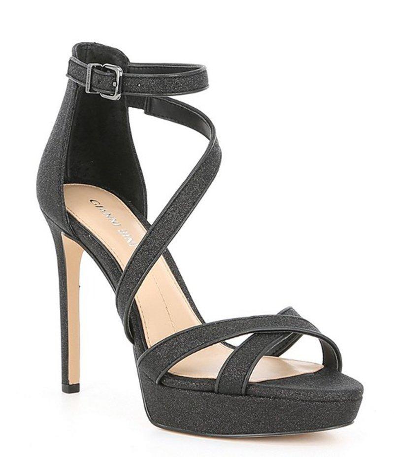 ジャンビニ レディース サンダル シューズ Corielle Glitter Strappy Platform Sandals Black