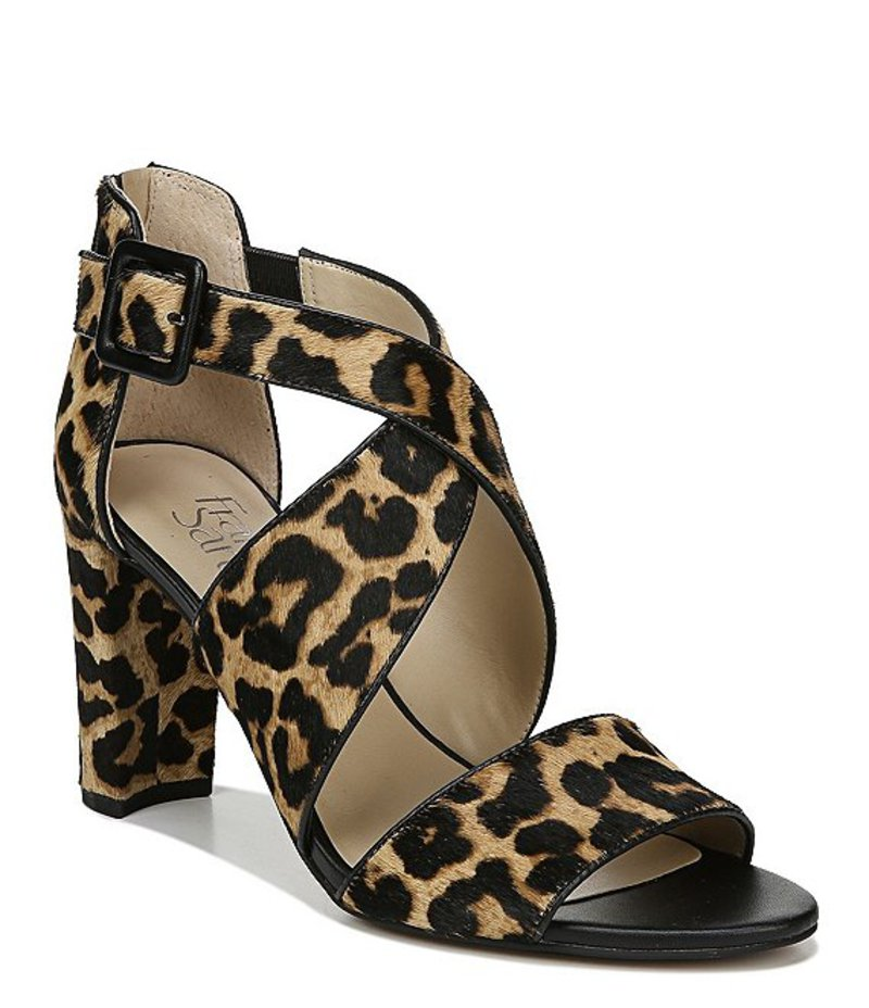フランコサルト レディース サンダル シューズ Hazelle2 Leopard Calf Hair Block Heel Dress Sandals Sahara Leopard