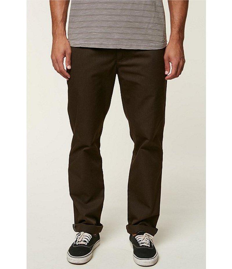 オニール メンズ カジュアルパンツ ボトムス The Standard Fit Flat-Front Chino Pants Cocoa