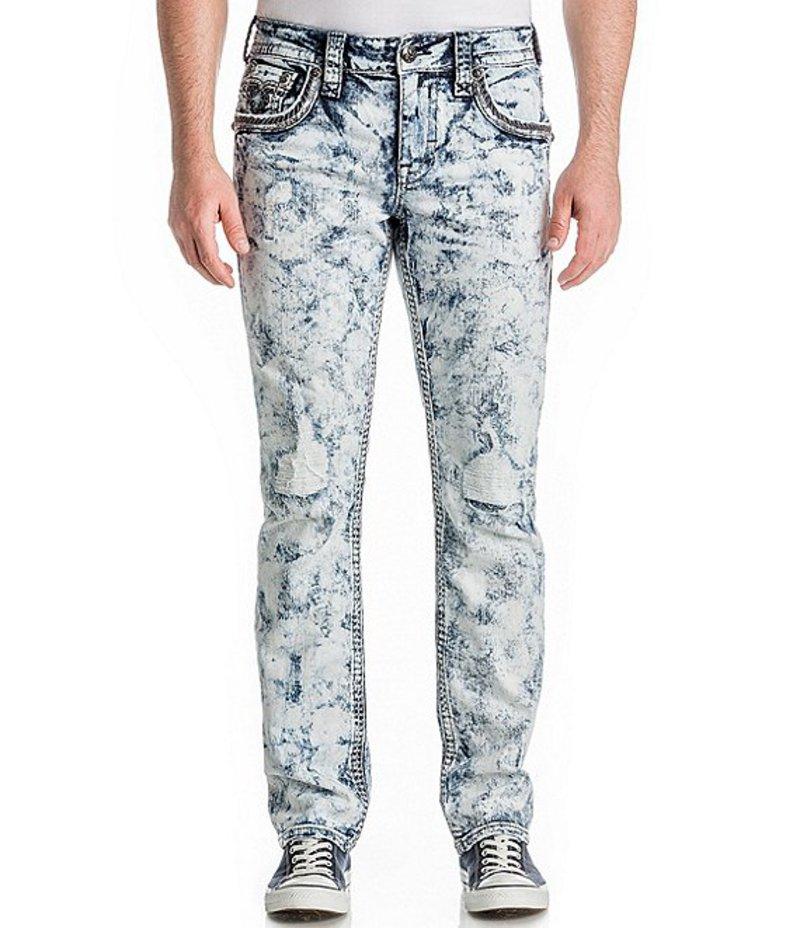 ロックリバイバル メンズ デニムパンツ ボトムス Jerret Alternate Straight Fit Jeans Acid Blue