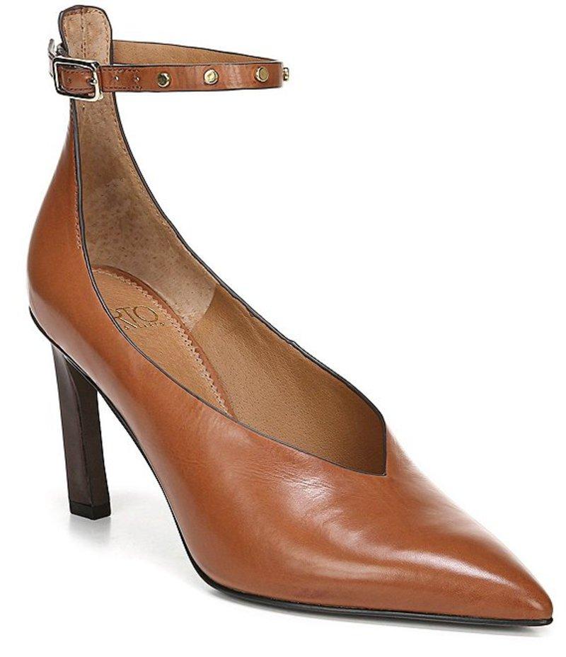 フランコサルト レディース ヒール シューズ Sarto by Franco Sarto Sarah Ankle Strap Leather Pumps Biscuit