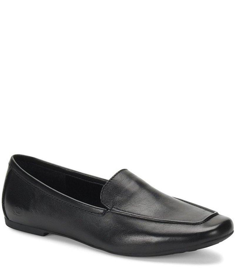 ボーン レディース スリッポン・ローファー シューズ Petil Leather Loafers Black