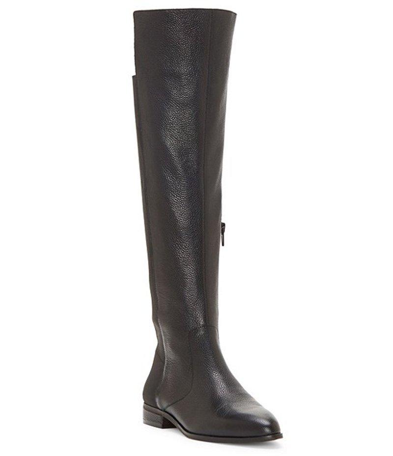 エンゾーアンジリーニ レディース ブーツ・レインブーツ シューズ Marala Leather Over The Knee Block Heel Boots Black Leather