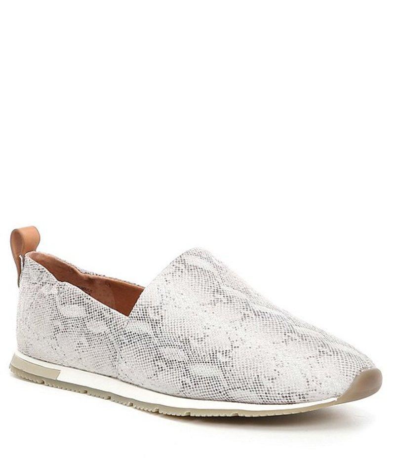 ジェントルソウルズ レディース スリッポン・ローファー シューズ Luca A-line Snake Print Slip On Shoes White Multi