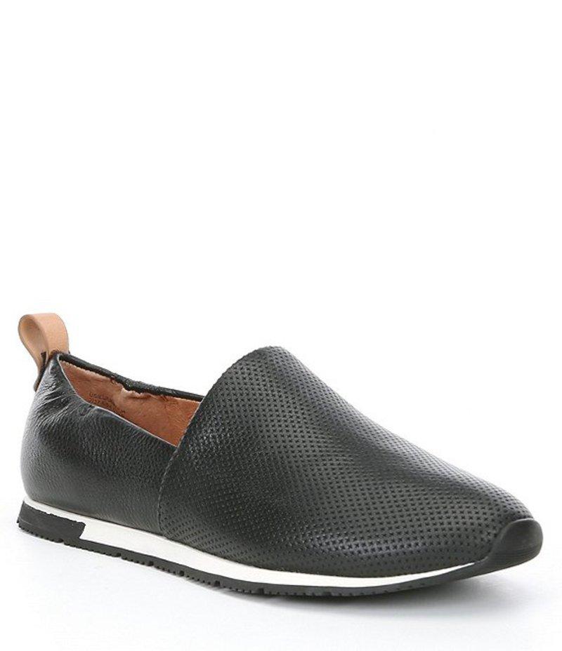 ジェントルソウルズ レディース スリッポン・ローファー シューズ Luca Leather A-line Perforated Slip On Shoes Black