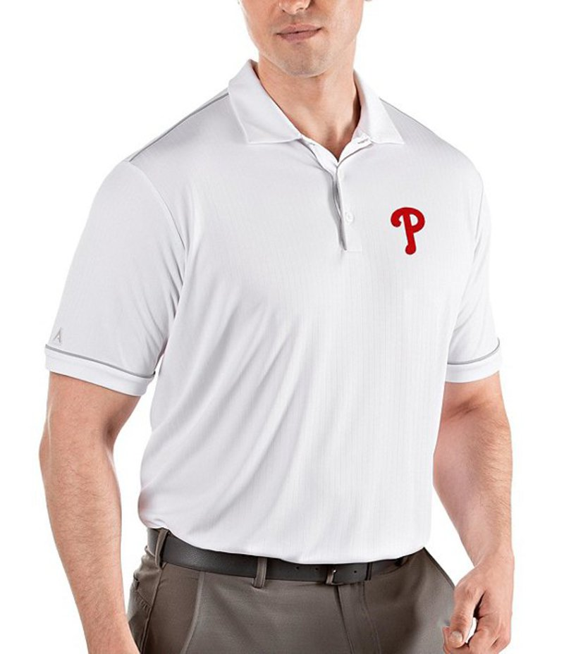 アンティグア メンズ シャツ トップス MLB National League Salute Short-Sleeve Polo Shirt Philadelphia Phillies White