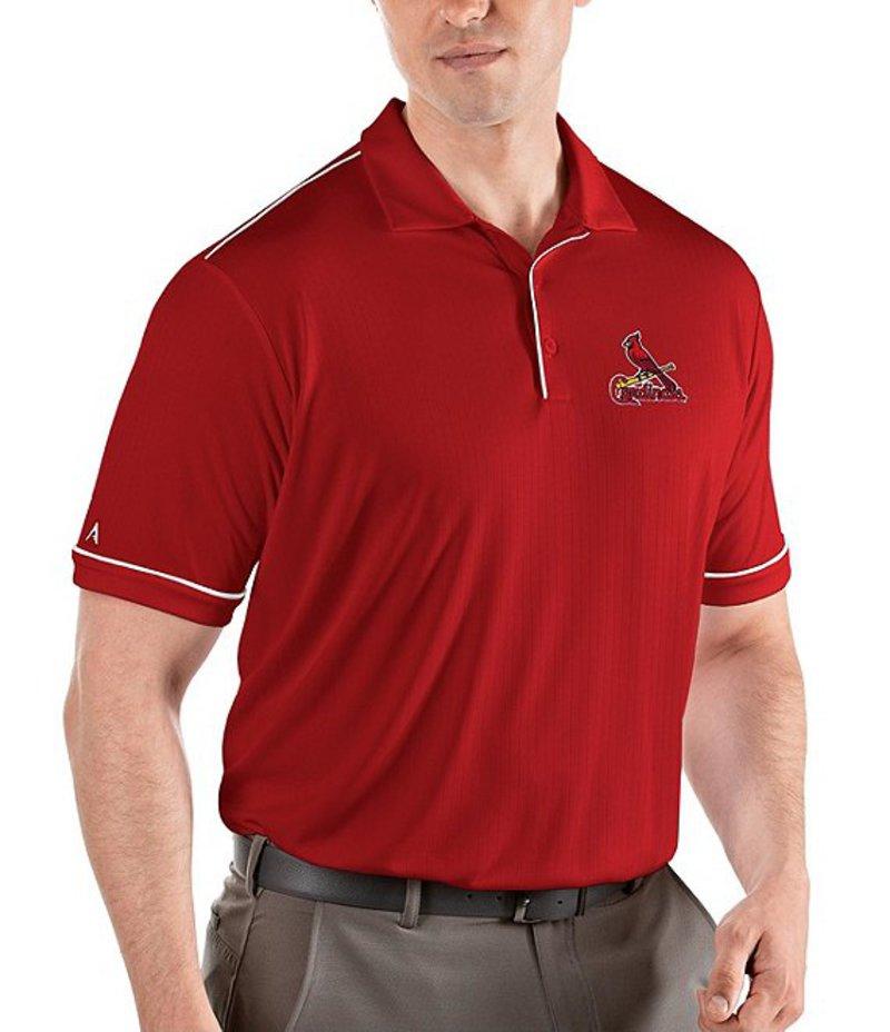 アンティグア メンズ シャツ トップス MLB National League Salute Short-Sleeve Polo Shirt St Louis Cardinals