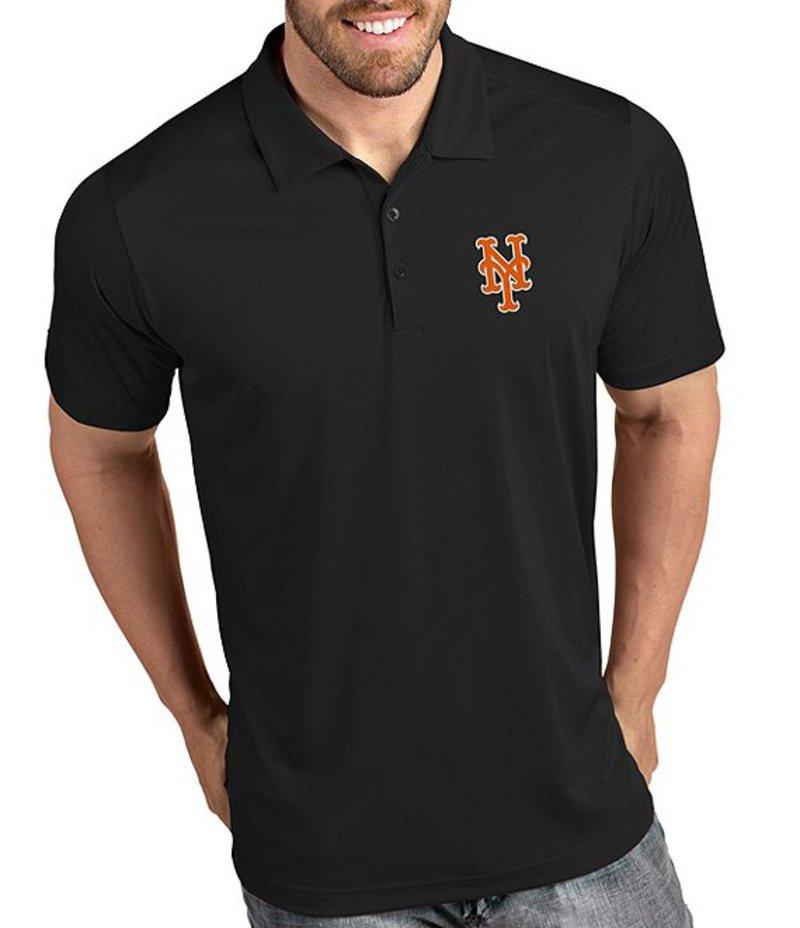 アンティグア メンズ シャツ トップス MLB National League Tribute Short-Sleeve Polo Shirt New York Mets Black