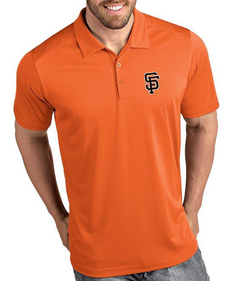 アンティグア メンズ シャツ トップス MLB National League Tribute Short-Sleeve Polo Shirt San Francisco Giants Orange