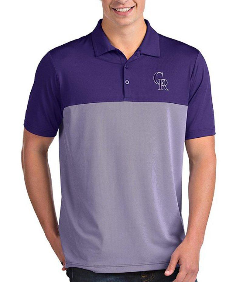 アンティグア メンズ シャツ トップス MLB National League Venture Short-Sleeve Polo Shirt Colorado Rockies Dark Purple