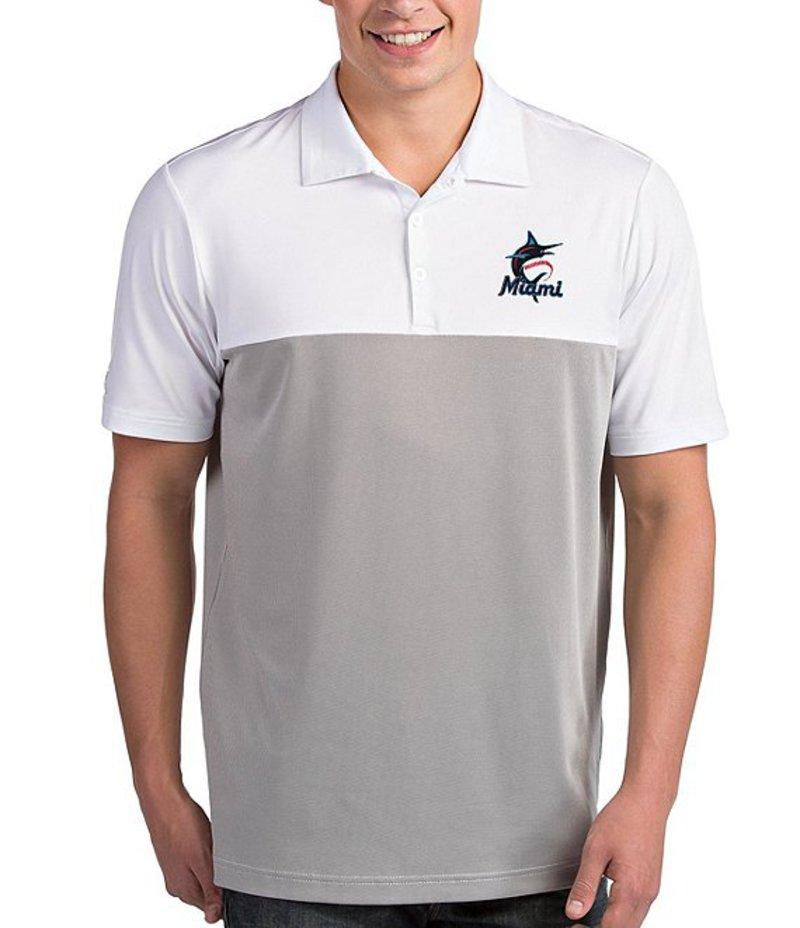 アンティグア メンズ シャツ トップス MLB National League Venture Short-Sleeve Polo Shirt Miami Marlins Steel