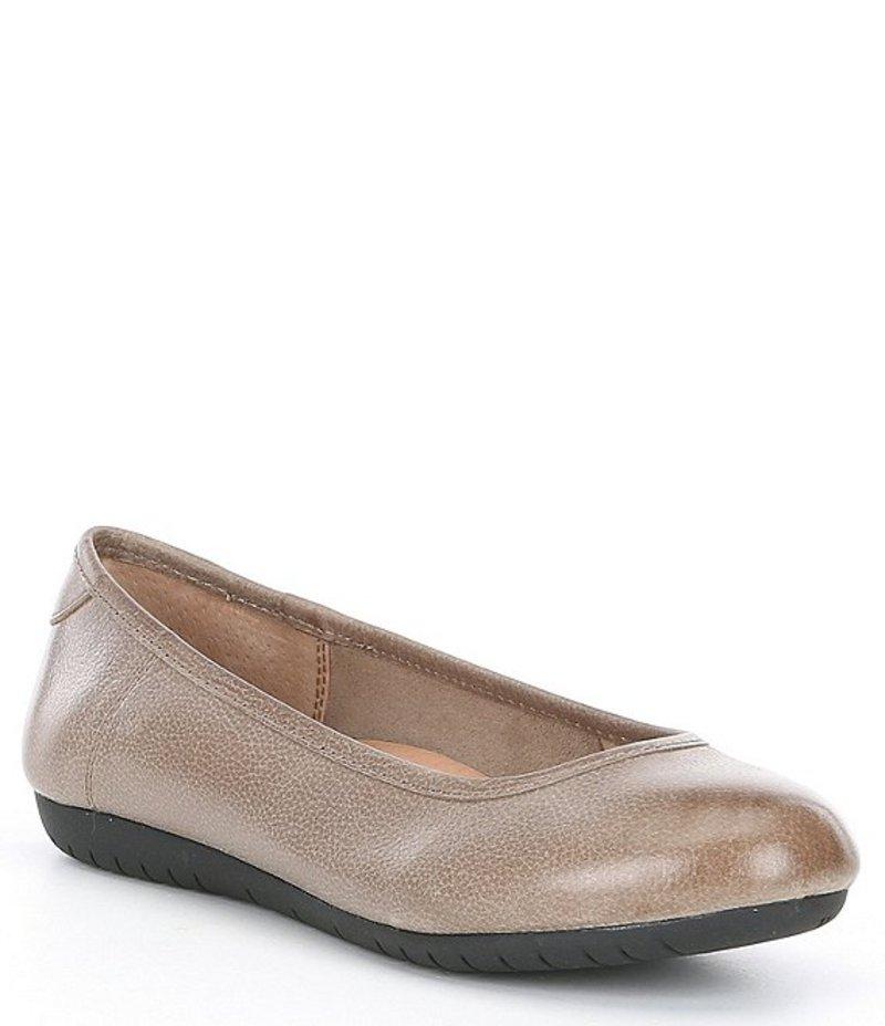 タオスフットウェア レディース パンプス シューズ Rascal Leather Slip-Ons Grey