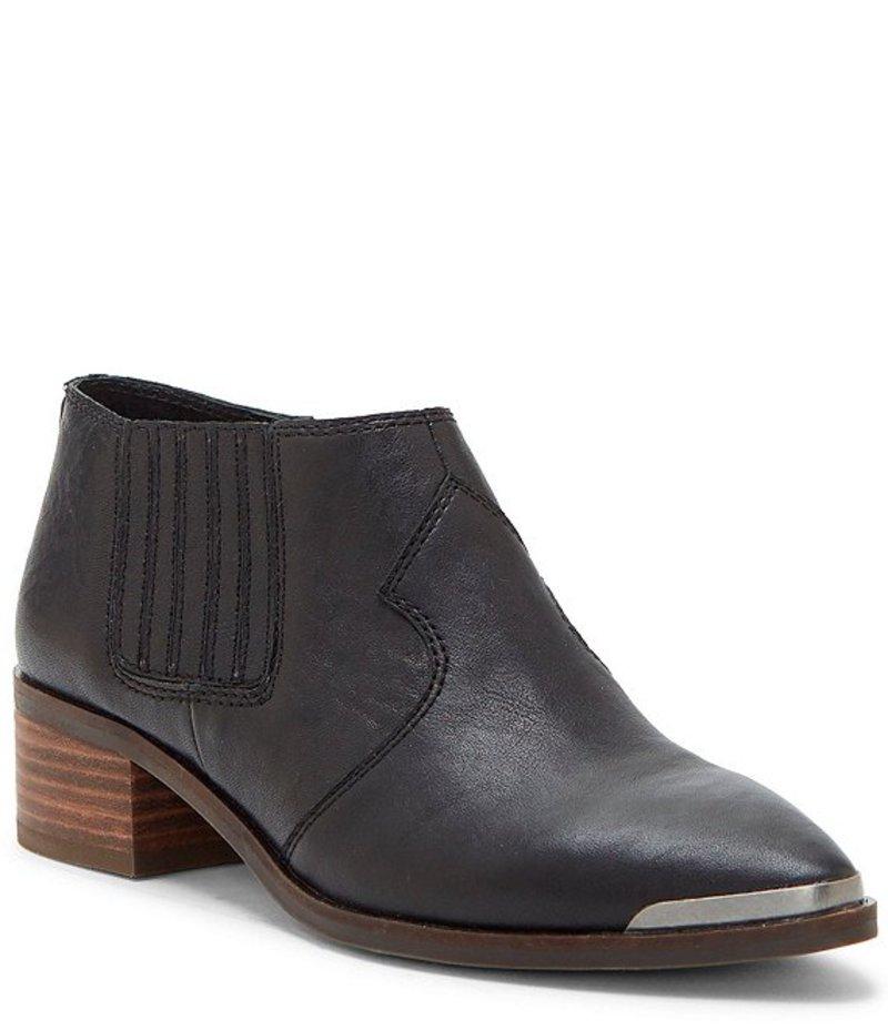 ラッキーブランド レディース ブーツ・レインブーツ シューズ Kalbah Leather Block Heel Booties Black
