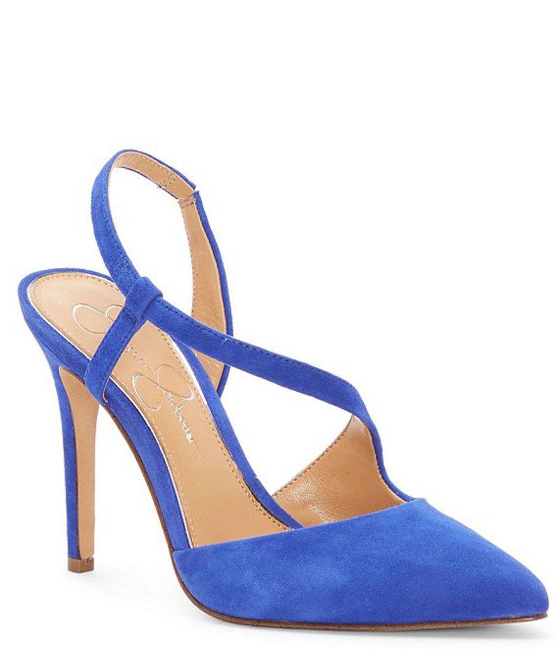 ジェシカシンプソン レディース ヒール シューズ Paselle Suede Asymmetrical Strappy Pumps Blue