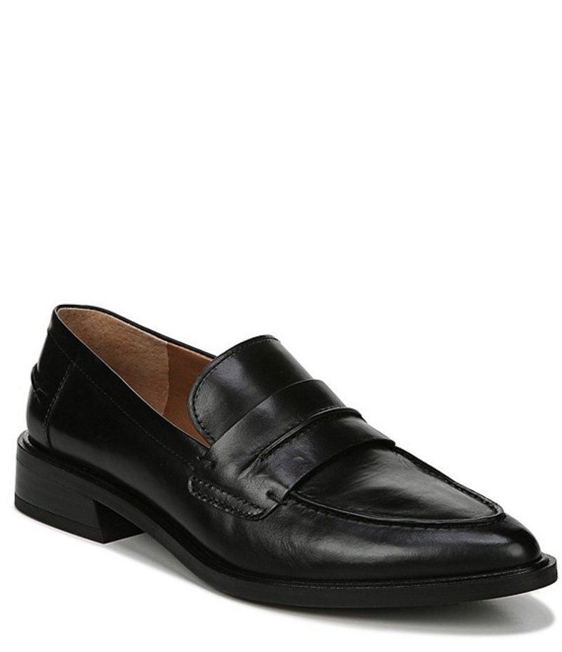 フランコサルト レディース スリッポン・ローファー シューズ Sarto by Franco Sarto Irena Leather Block Heel Loafers Black