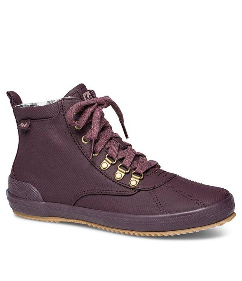 ケッズ レディース ブーツ・レインブーツ シューズ Scout Boot II Matte Twill Lace-Up Booties Burgundy