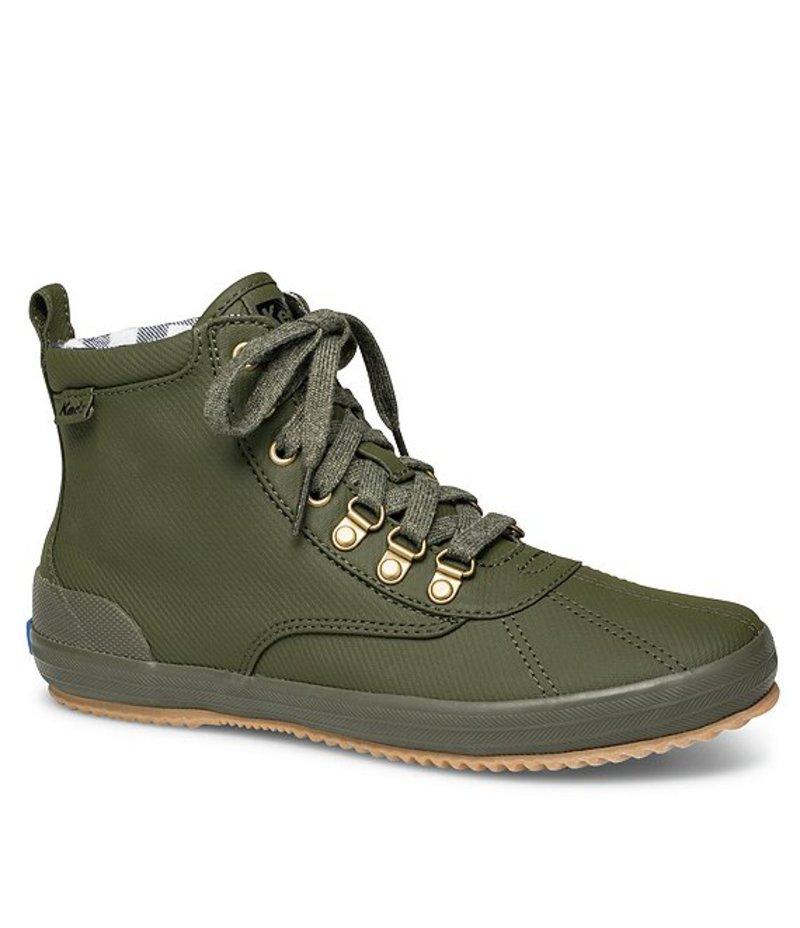 ケッズ レディース ブーツ・レインブーツ シューズ Scout Boot II Matte Twill Lace-Up Booties Olive