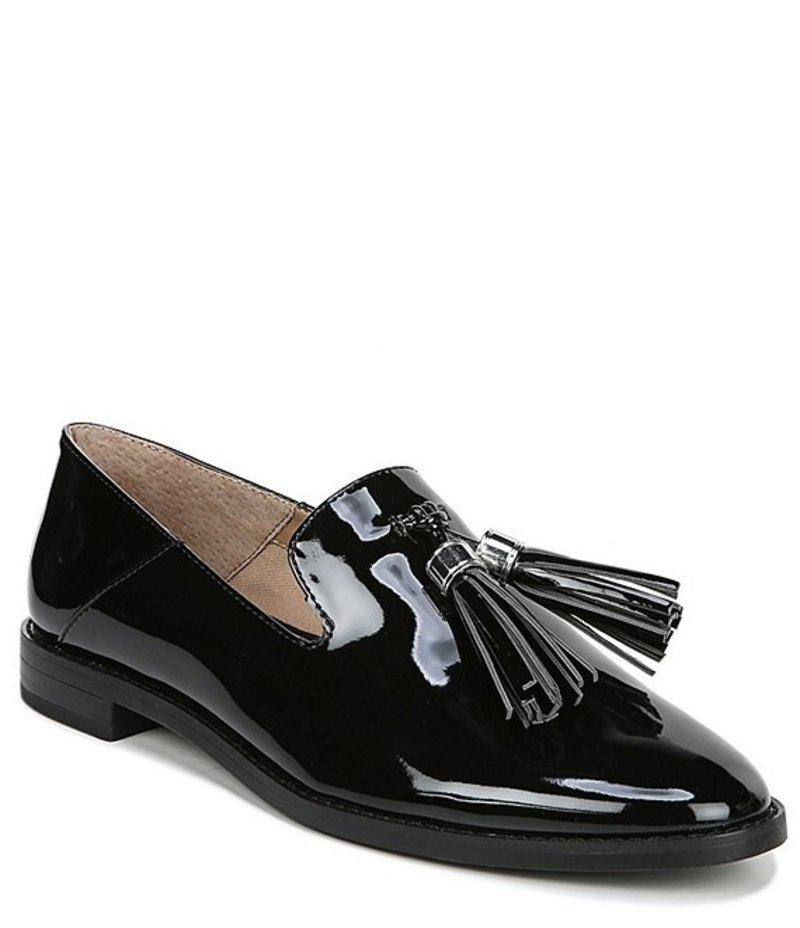 フランコサルト レディース スリッポン・ローファー シューズ Hadden Patent Tassel Block Heel Loafers Black