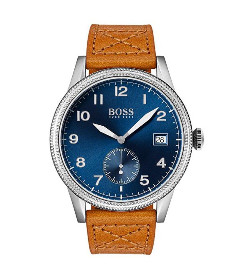 ヒューゴボス メンズ 腕時計 アクセサリー The Legacy Collection Light Brown Leather Watch Tan
