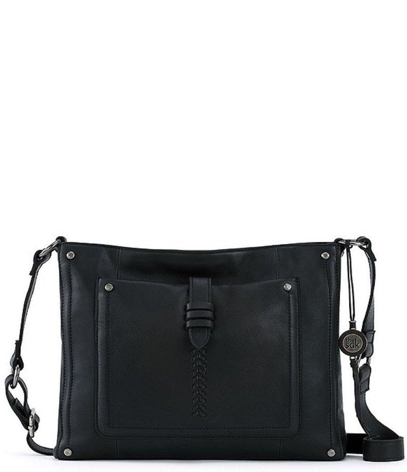 ザサック レディース ショルダーバッグ バッグ Heritage Zip Top Leather Crossbody Black