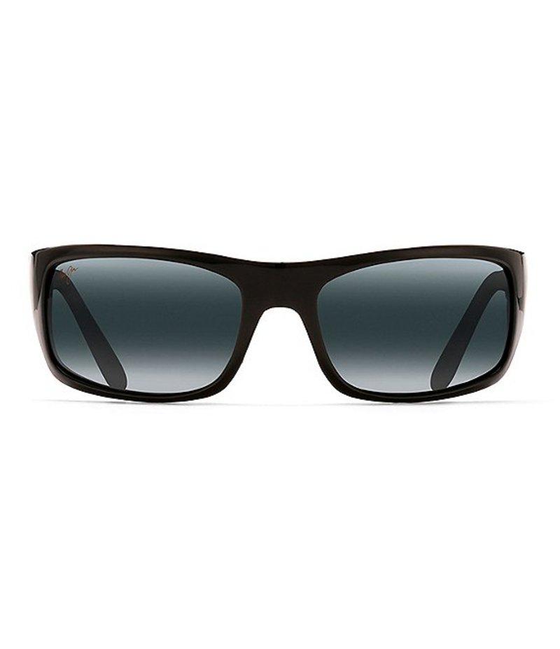 マウイジム レディース サングラス・アイウェア アクセサリー Peahi Polarized Sunglasses Black