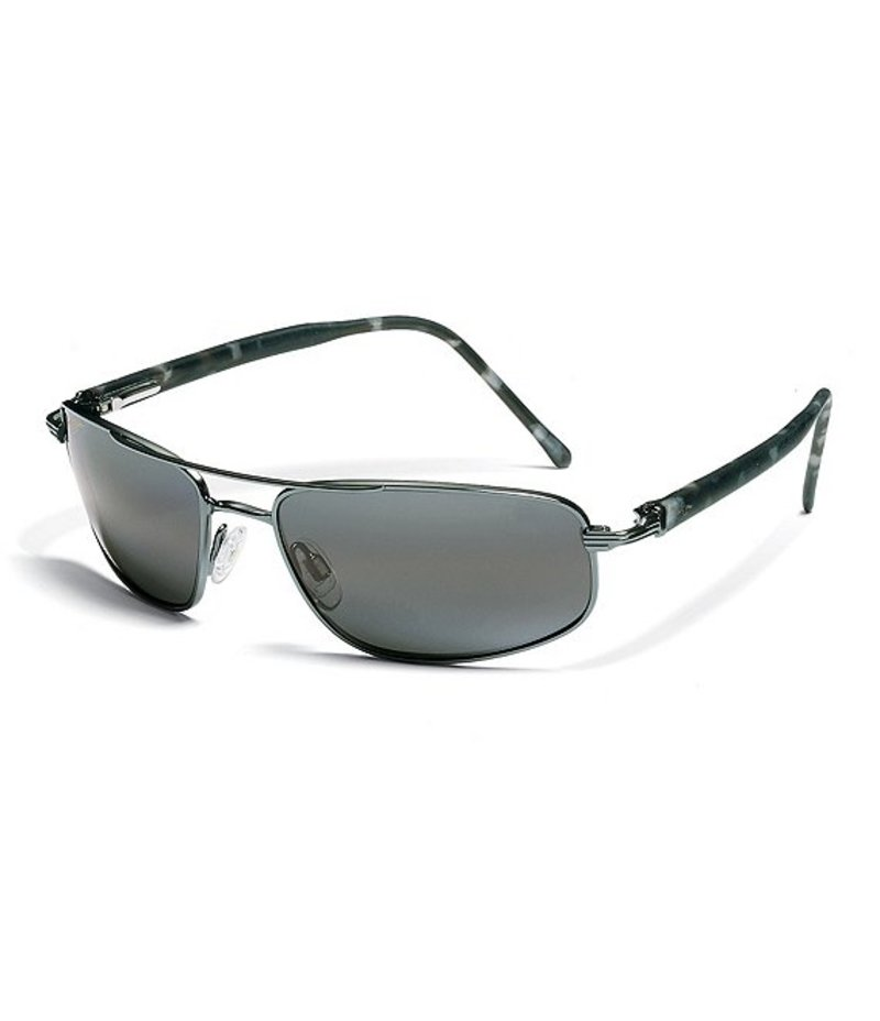 マウイジム レディース サングラス・アイウェア アクセサリー Kahuna Double Bridge Glare and UV Protection Polarized Sunglasses Gunmetal