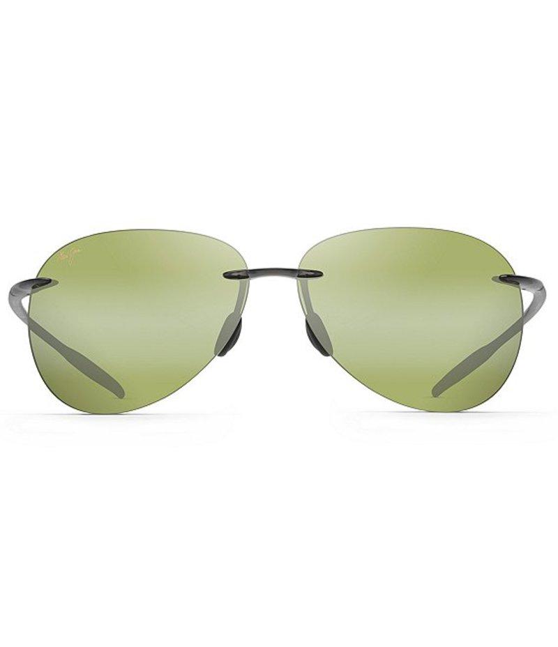 マウイジム レディース サングラス・アイウェア アクセサリー Polarized Sugar Beach Sunglasses Translucent Smoke Grey