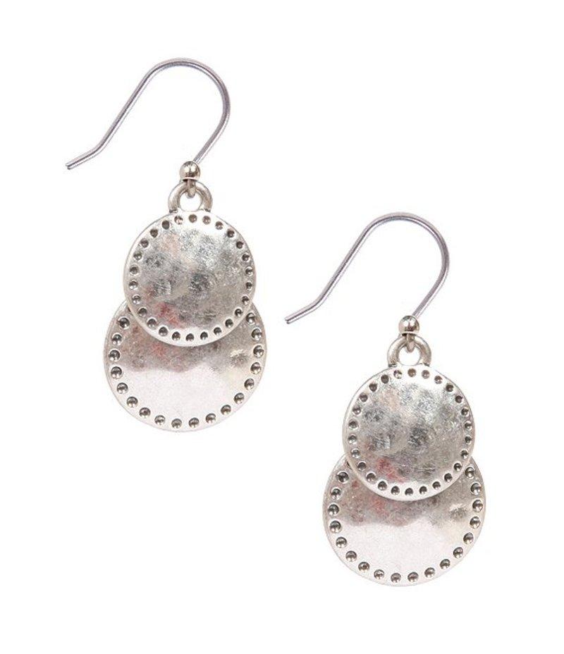 ラッキーブランド レディース ピアス・イヤリング アクセサリー Double Drop Earrings Silver