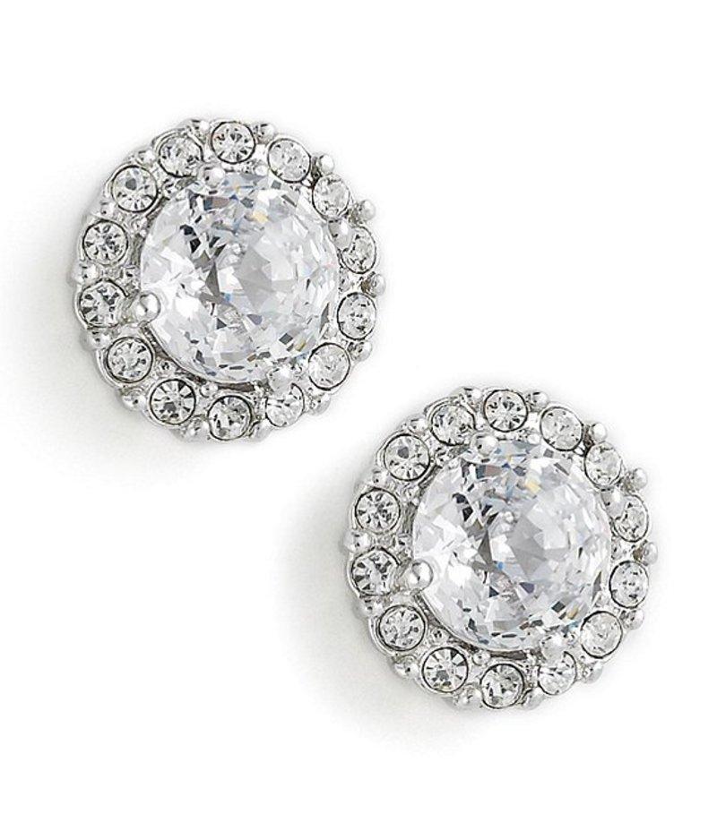 ナディール レディース ピアス・イヤリング アクセサリー Crystal Pave Stud Earrings Metal