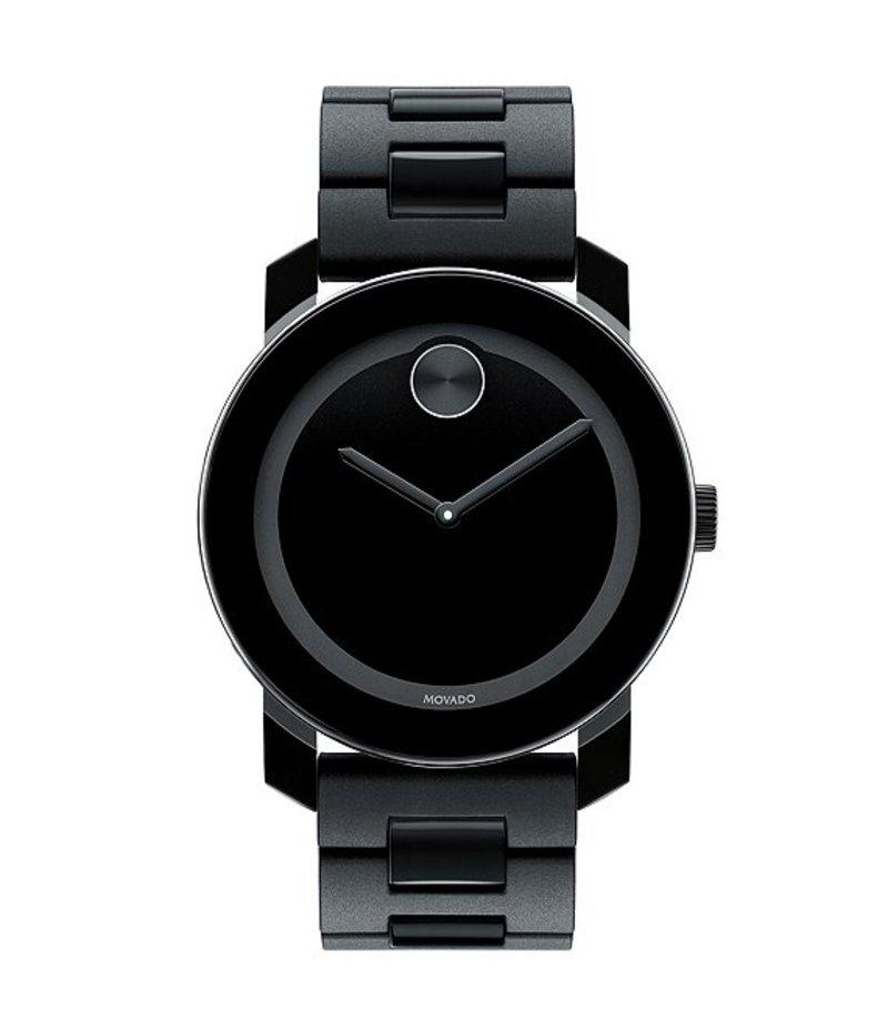 モバード メンズ 腕時計 アクセサリー Large Bracelet Analog Watch Black
