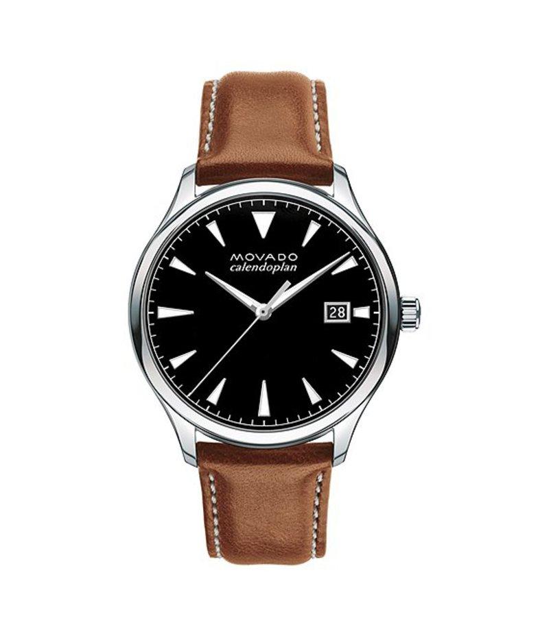 モバド メンズ 腕時計 アクセサリー Heritage Series Calendoplan Analog & Date Watch Cognac
