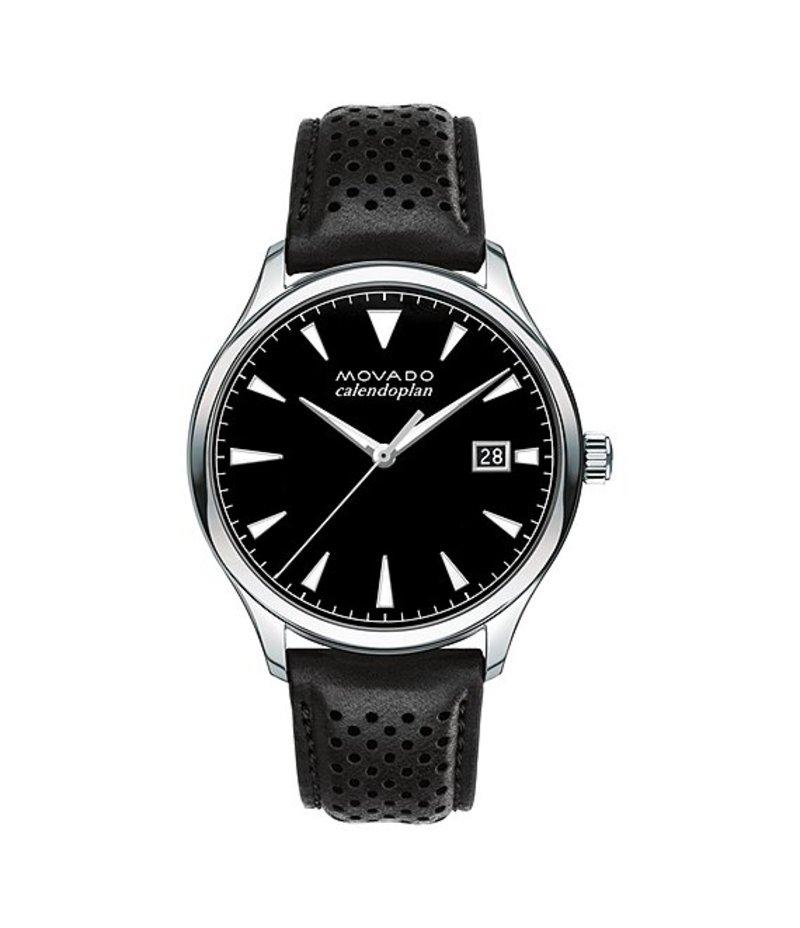 モバド メンズ 腕時計 アクセサリー Heritage Series Calendoplan Analog & Date Watch Black