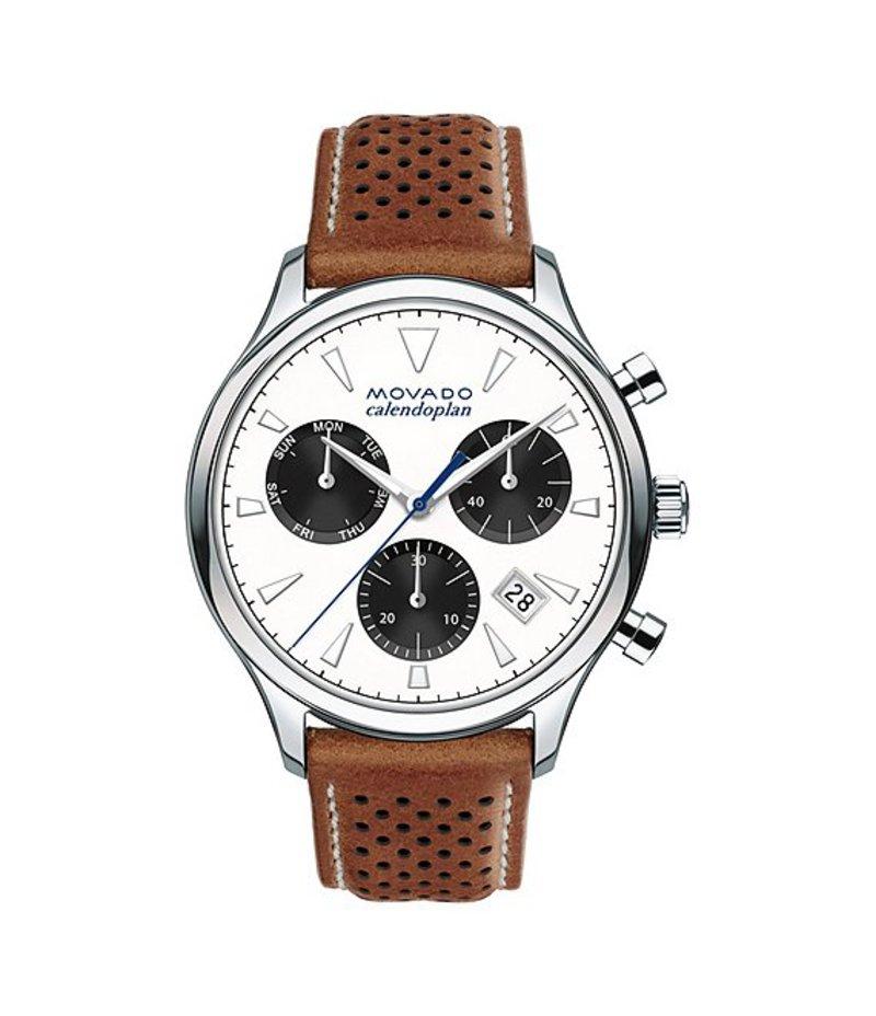 モバド メンズ 腕時計 アクセサリー Heritage Series Calendoplan Chronograph & Date Watch Tan