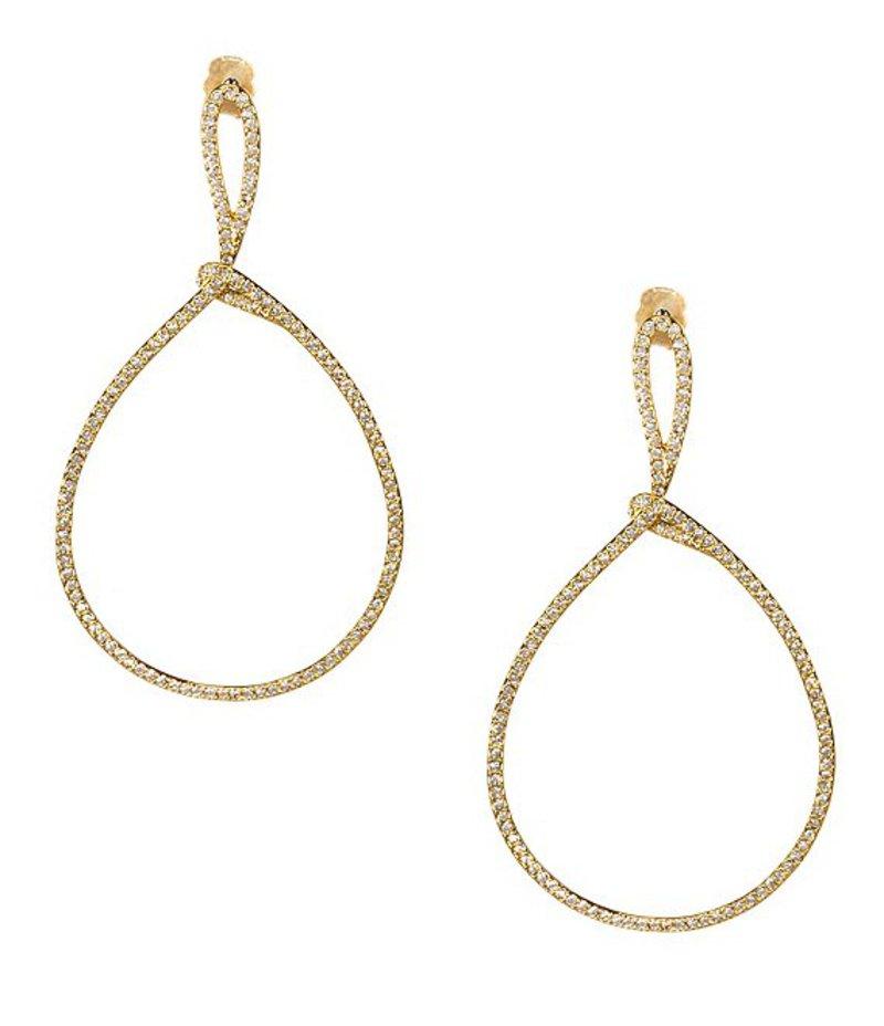 ナディール レディース ピアス・イヤリング アクセサリー Lupita Pave Drop Hoop Earrings Gold