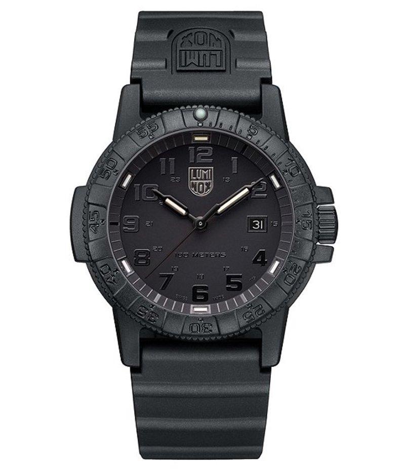 ルミノックス メンズ 腕時計 アクセサリー Sea Turtle All Black Analog & Date Watch Black