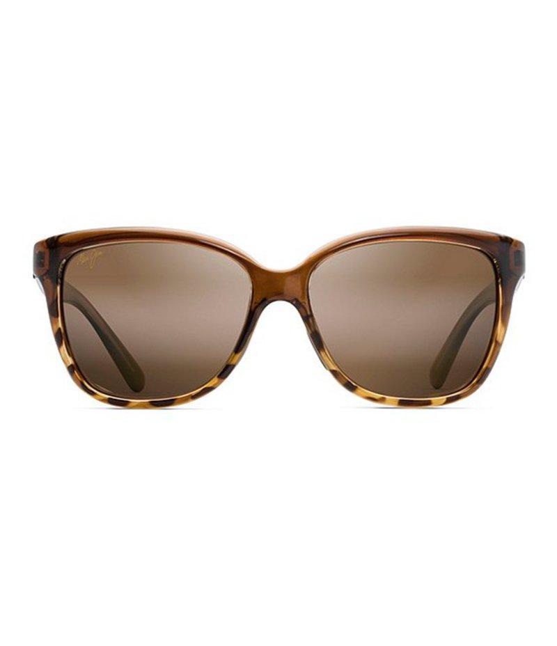 マウイジム レディース サングラス・アイウェア アクセサリー Starfish Gradient Polarized Sunglasses Chocolate Tortoise