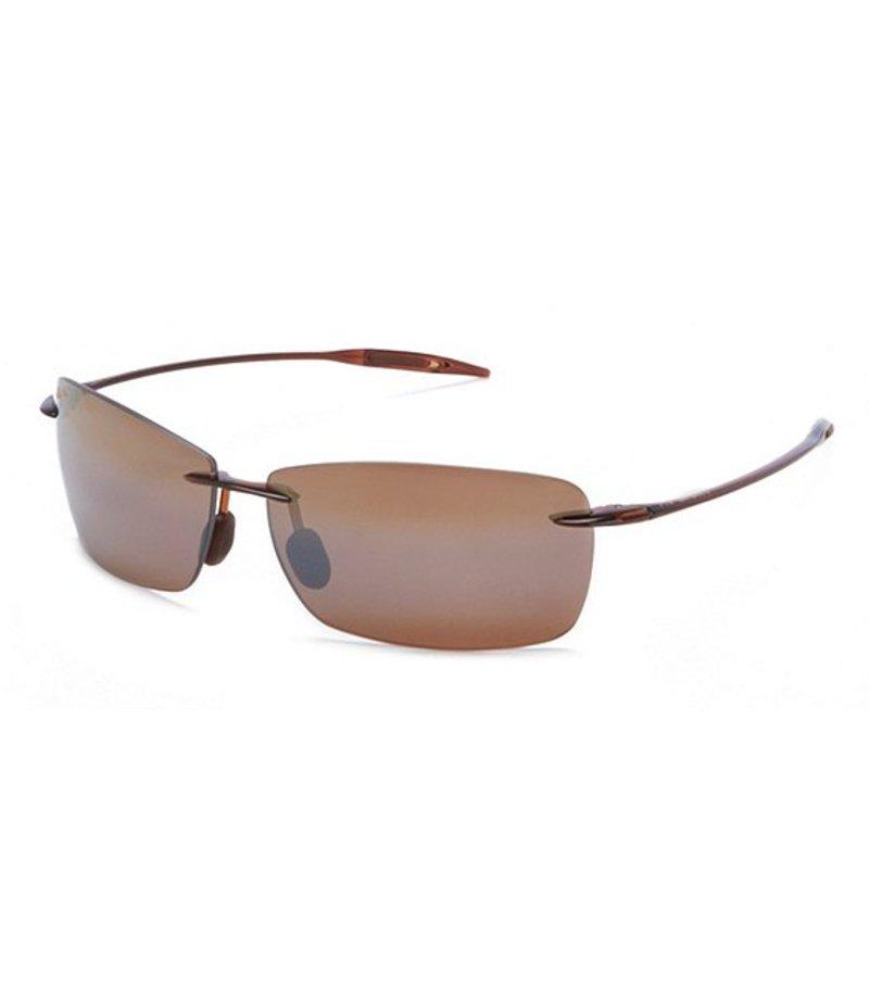 マウイジム レディース サングラス・アイウェア アクセサリー Lighthouse Polarized Rectangular Sport Sunglasses Rootbeer
