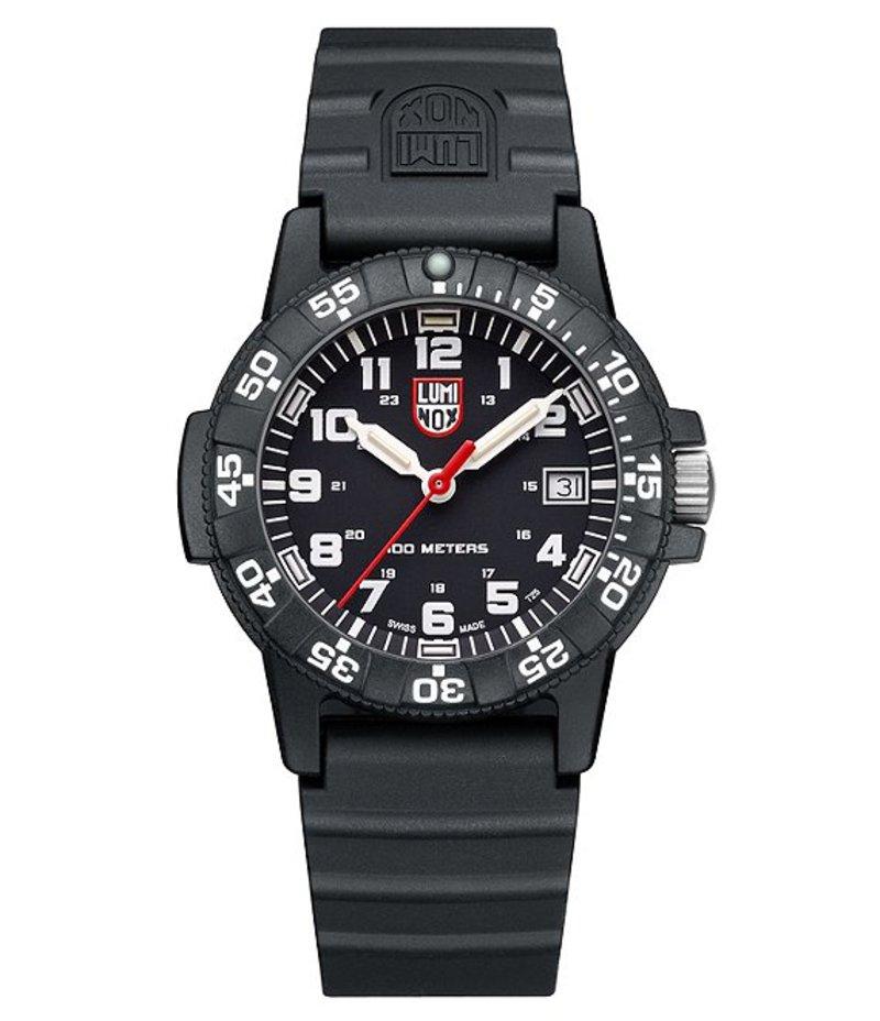 ルミノックス メンズ 腕時計 アクセサリー Sea Turtle Signature Polyurethane-Strap Watch Black