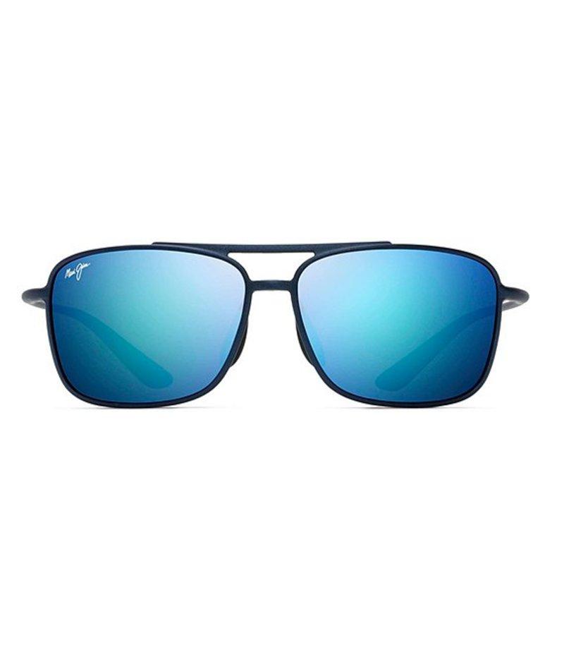 マウイジム メンズ サングラス・アイウェア アクセサリー Kaupo Gap Polarized Navigator Sunglasses Matte Blue