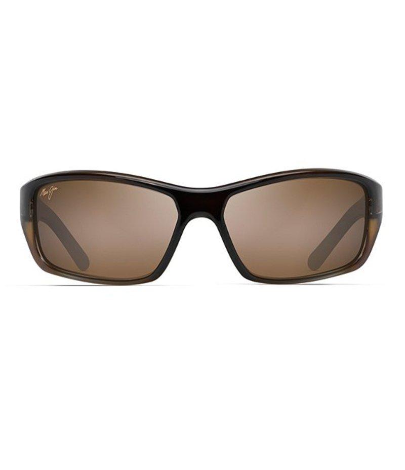 マウイジム メンズ サングラス・アイウェア アクセサリー Barrier Reef Polarized Sunglasses Brown/Gold