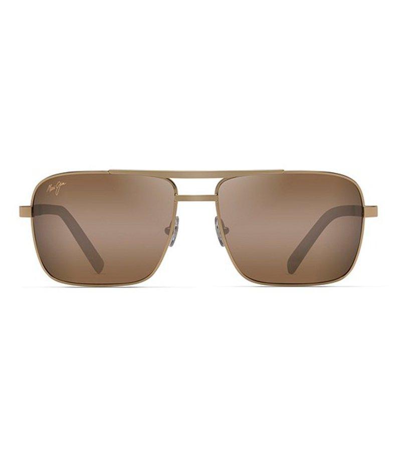 マウイジム レディース サングラス・アイウェア アクセサリー Compass Polarized Sunglasses Gold