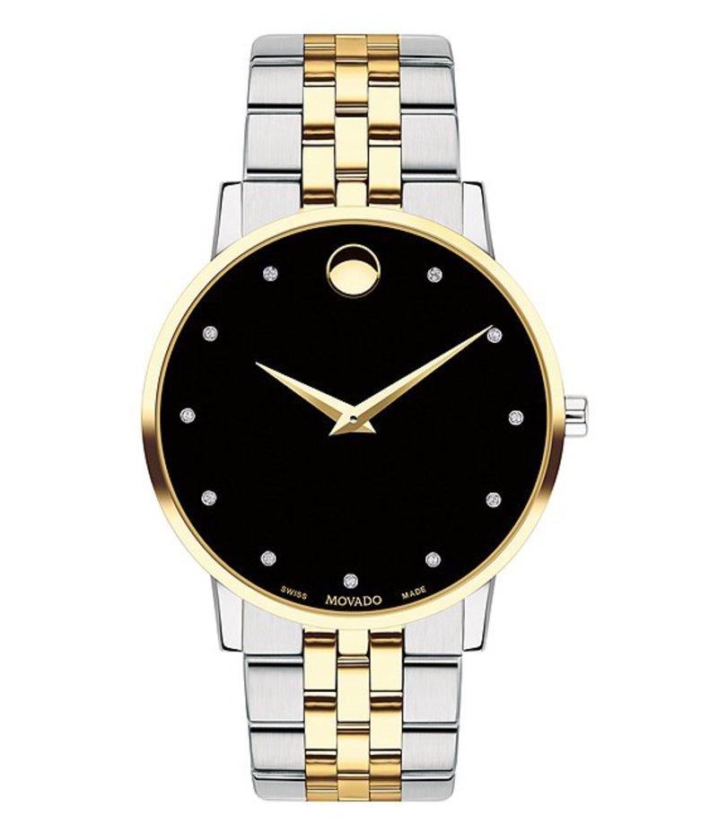 モバド メンズ 腕時計 アクセサリー Museum Classic Two Tone Link Bracelet Watch with Diamond Detail Two-Tone