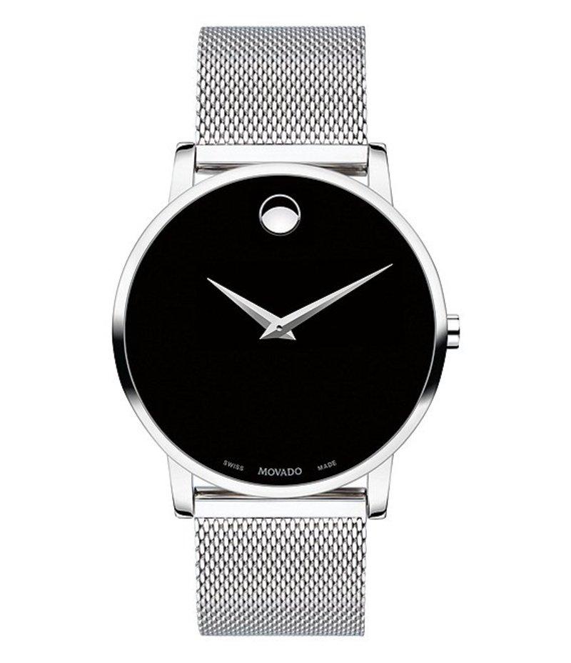 モバド メンズ 腕時計 アクセサリー Men's Stainless Steel Mesh Bracelet Watch Silver-Tone