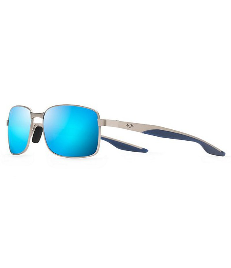 マウイジム レディース サングラス・アイウェア アクセサリー Shoal Polarized Sunglasses Matte Silver