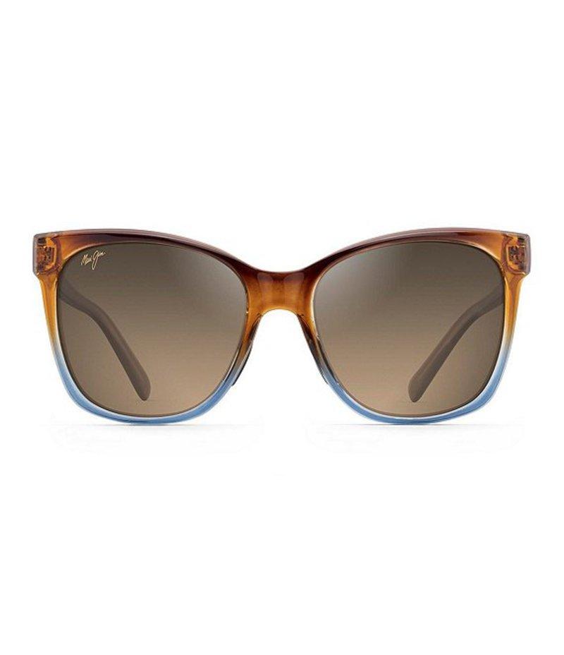 マウイジム レディース サングラス・アイウェア アクセサリー Alekona Polarized Fashion Sunglasses Caramel Blue