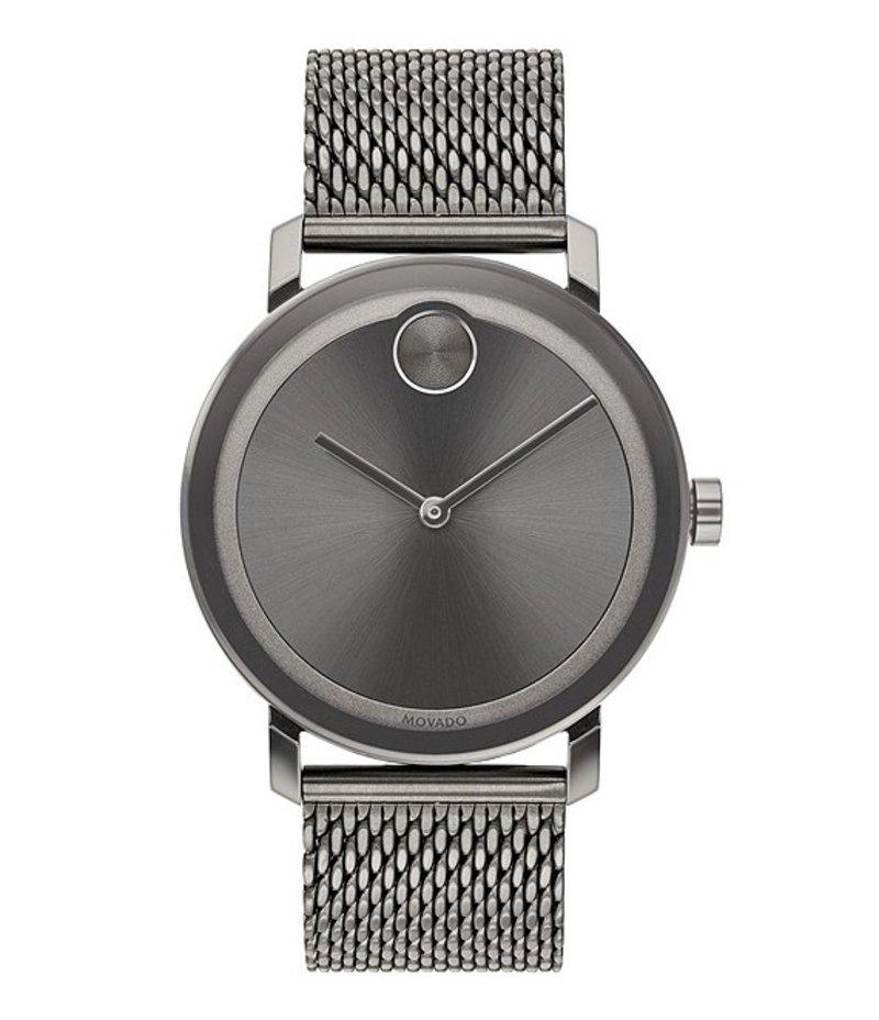 モバード メンズ 腕時計 アクセサリー Evolution Grey Mesh Strap Bracelet Watch Grey