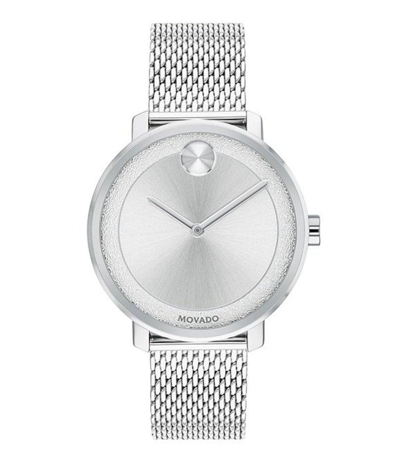モバード レディース ブレスレット・バングル・アンクレット アクセサリー Stainless Steel Mesh Bracelet Watch Silver